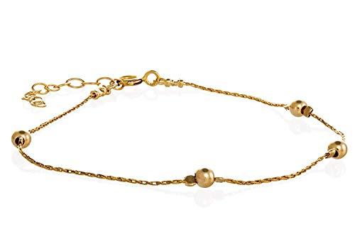 14k Gold Filled Dainty Anklet Minimalista Pulsera de tobillo para mujer Joyer?a de pie 8.5