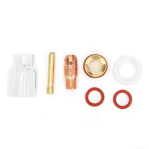 Kit de antorcha de soldadura TIG-9/20, kit de copa de vidrio de boquilla de lente de gas de antorcha de soldadura para pasador de tungsteno de 1/16 in 3/32 in 1/8 in (1,6 mm)
