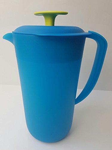 Tupperware Kanne Milchkanne Saftkanne Kühlschrank 2,1 Liter türkis blau grün Milch