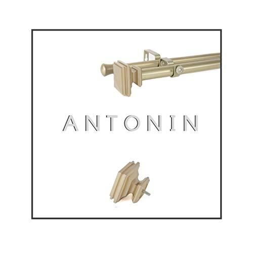 Maison Desyne Antonin 20 mm 25 mm Barra doble para cortina (dorado,...