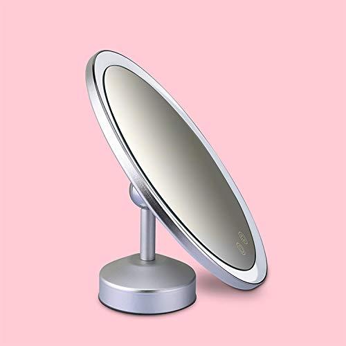 KRU Make-upspiegel, magnetische, 180 graden draaibare make-upspiegel, LED Smart Memory Touch-make-upspiegel, die in de slaapkamer wastafel wordt gebruikt.