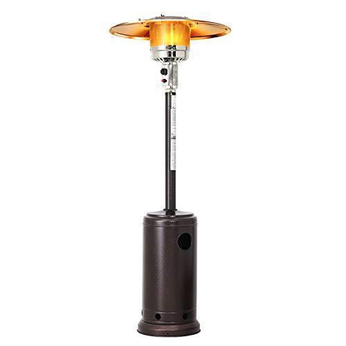 Patiomore Outdoor Propane Heater Patio Tall Standing Heater, 40000 BTU, Matte Bronze