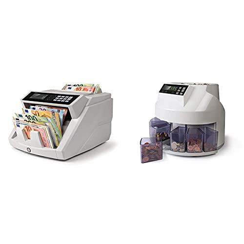Safescan 2465-S - Banknotenzähler für gemischte Geldscheine, mit 7-facher Falschgeldprüfung & 1250 geldzählmaschine - automatischer münzzähler...