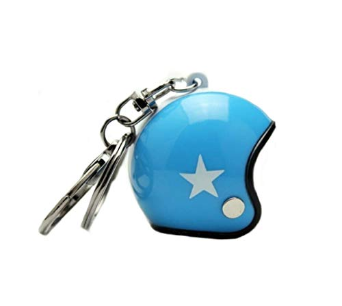 Familienkalender Casco abierto sin visera, llavero con estrella azul ciclomotor | moto | Velo | regalo | casco de seguridad | casco de protección | azul