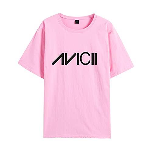 CAFINI Dj Avicii Bedrucktes Baumwoll-T-Shirt, Lässiger Und Bequemer Unisex-Kurzarmpullover, Studenten-Jugendmode-Street-Sweatshirt-Oberteil(S-3XL)