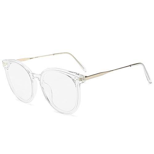 YOULIER Gafas de sol cuadradas transparentes poligonales para mujer retro de gran tamaño marco plana gafas de sol mujeres Uv400
