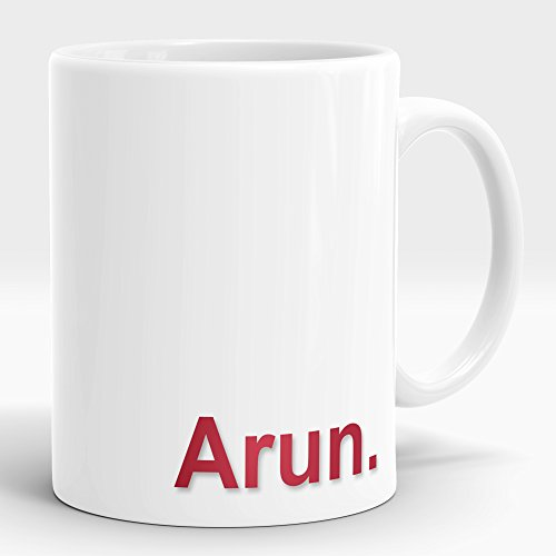 LASTWAVE Valentine Gifts for Boyfriend Girlfriend Love Printed Ceramic Mug with name Arun