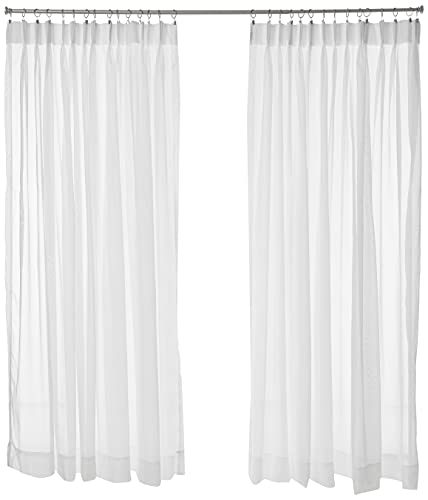 """Stylemaster Splendor Pinch Pleated Drapes Pair, 2 of 72"""" by 84"""", White"""
