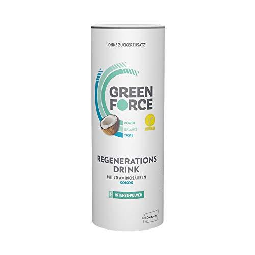 GREENFORCE Intense Veganes Proteinpulver Kokos aus Erbsen-Protein | leckerer Protein-Drink oder Shake zur Regeneration | veganer, glutenfreier Protein-Drink für Sport und Alltag | 500 g