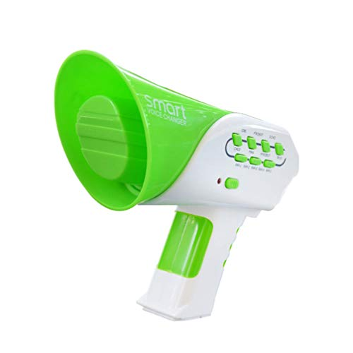 TOYANDONA Kids Multi Voice Changer Toy Megaphone Change Your Voice Modifier Speaker Toys for Boys and Girls Green
