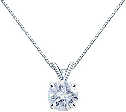 1/2 to 3 1/2 Carat Round Moissanite Solitaire...