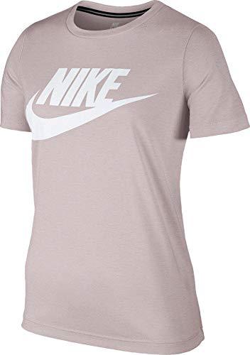 Nike Essential Tee Hybrid Camiseta, Mujer, Rosa (Ligero/Blanco), M