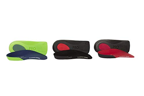PRO 11 WELLBEING 2 pairs of Slim Fit Orthotic insoles With Heel Pad For...