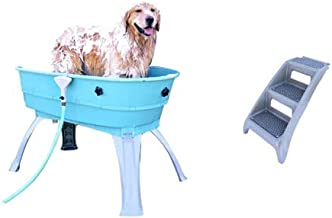 Booster Bath Elevated Pet Bathing Large with Steps