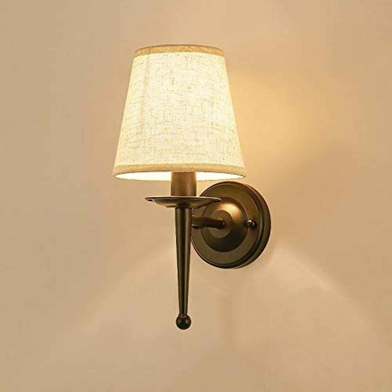 Hhoro La lámpara de Parojo del Dormitorio Lámpara de cabecera Minimalista Retro Idílico Pueblo Caminar Corrojoor Luces de Parojo Luces de Parojo, La luz blancoa de Hierro (Color   blanco Light)