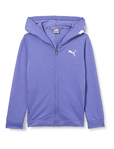 PUMA Mädchen Modern Sports Full-Zip G Pullover, Hazy Blue, 128