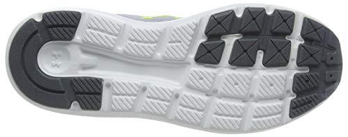 Under Armour Unisex Kid's Grade School Surge 2 Road Running Shoe, Mod Gray/White/Green Citrine (106), 6