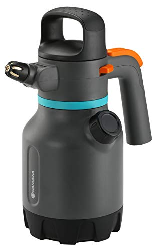 Gardena Pulverizador a presión de 1,25 l, turquesa, negro, gris, naranja, 1,25l