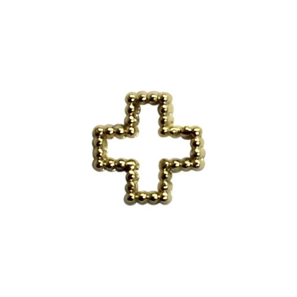ピッチャー解放する旅プリティーネイル ネイルアートパーツ ブリオンクロスS ゴールド 15個