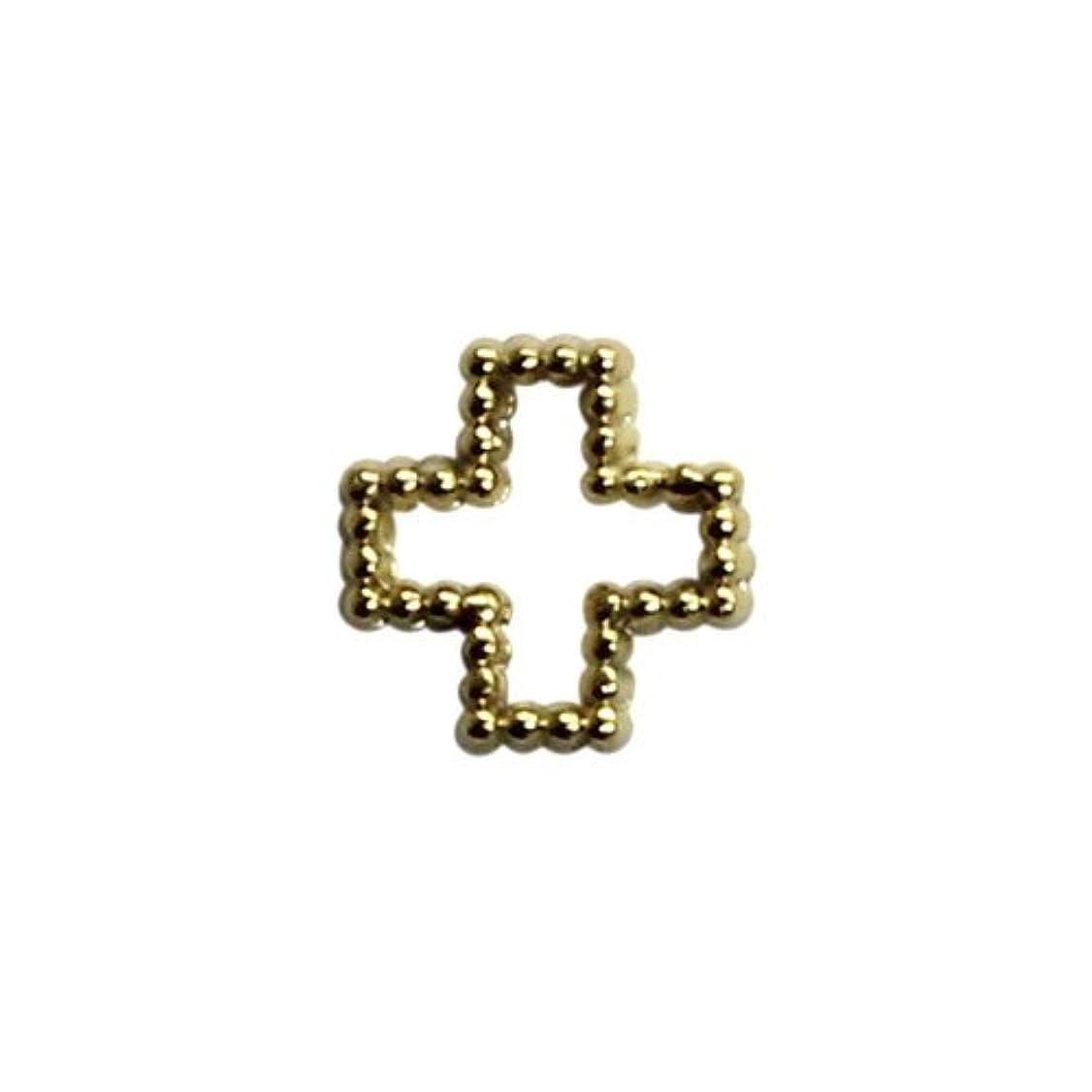 水素ハンディキャップチェリープリティーネイル ネイルアートパーツ ブリオンクロスS ゴールド 15個