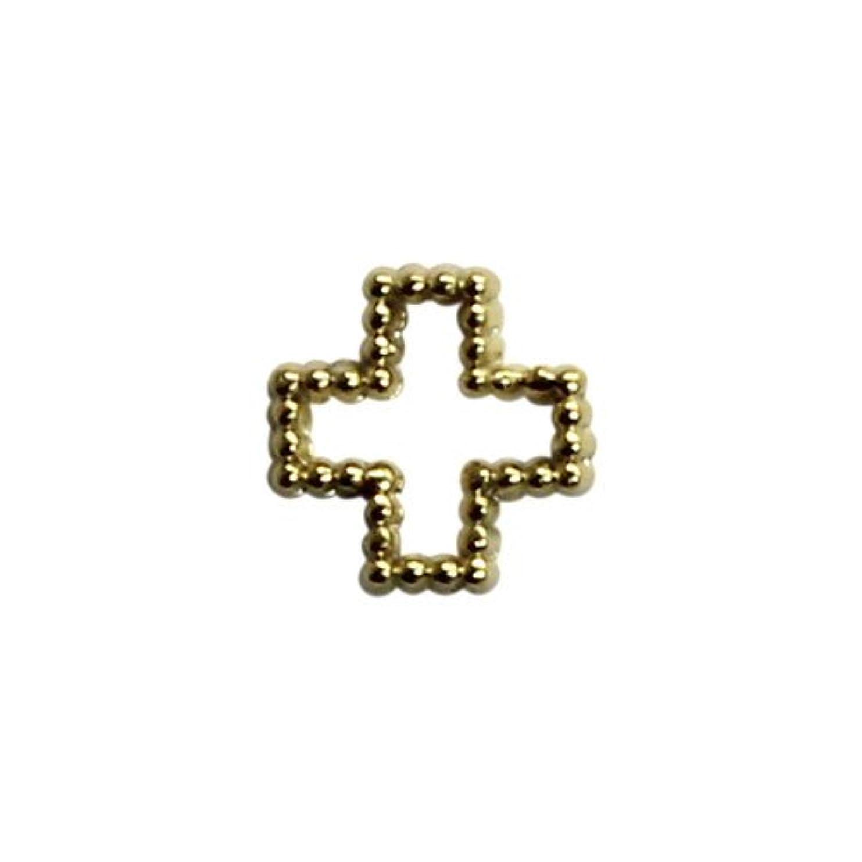 不安定な順番ベーリング海峡プリティーネイル ネイルアートパーツ ブリオンクロスS ゴールド 15個
