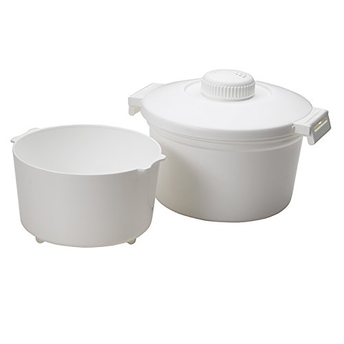 Nordicware 64000 Microwave Rice Cooker Cup Cookware, 8.5, White