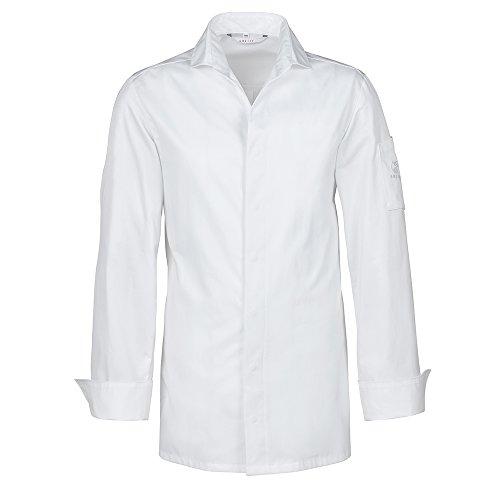 GREIFF Kochhemd mit V-Ausschnitt   Slim Fit   Cuisine EXQUISIT   Style 5565   Weiß   Gr: 48