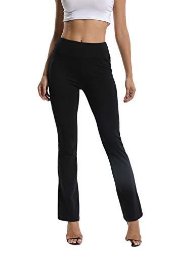 FITTOO Pantalones De Yoga Sueltos Cintura Alta Mujer Pantalones Largos Deportivos Suaves y Cómodos Negro Medium