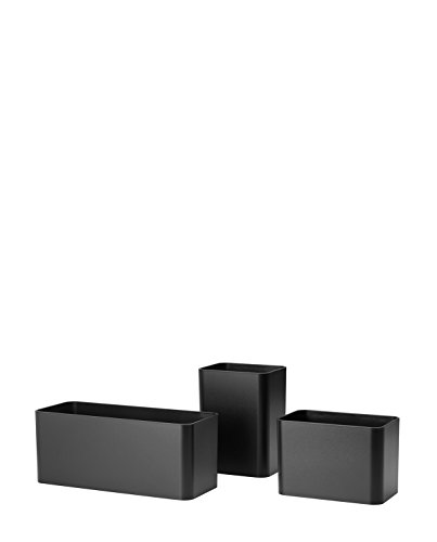 Unbekannt String - Organizer Boxen, schwarz (3er-Set)