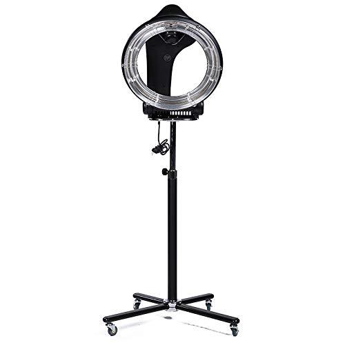 Secador de pelo infrarrojo en órbita, procesador de pelo profesional de salón con 6 modos diferentes, aire caliente y secador de 360 grados (Negro)