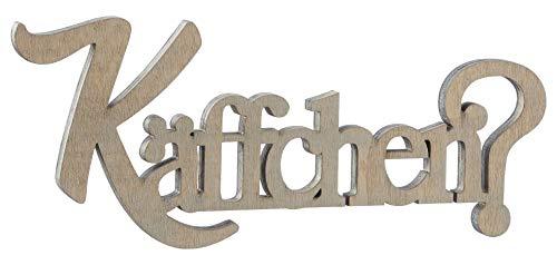 Cepewa Käffchen? Holz Aufsteller 20 cm/Holzdekoration Schriftzug/Kaffee Trinken