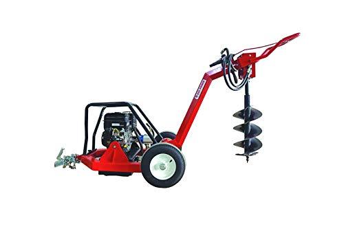 HZC Power Hydraulischer Erdbohrer Pendelbohrer Erdbohrgerät Benzinmotor mit 5 Bohrern BEB206
