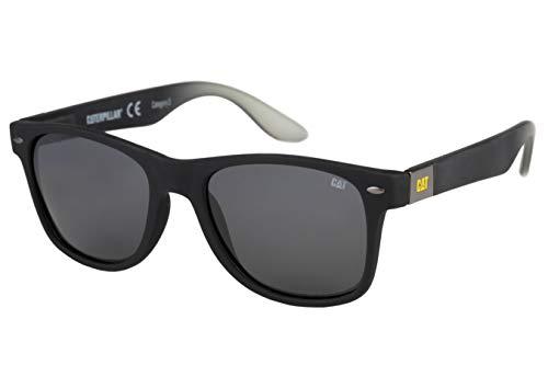 Caterpillar Blinding Polarized Sunglasses Square, Rubberized Matte Black, 54 mm