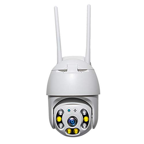 Cámara de seguridad PTZ inalámbrica Wifi/4G con ranura para tarjeta SIM, cámara IP para exteriores de 2 MP, cámara CCTV con visión nocturna a color, cámara de vigilancia domo de 30 m