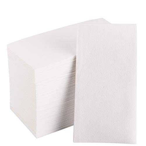 100 Disposable Hand Towels Soft and Absorbent LinenFeel Guest Towels Cloth Like Hand Napkins Durable Decorative Dinner Napkins for Kitchen Bathroom Parties Weddings Dinners or Events