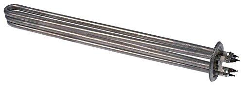 Radiator 6000 W 230/400 V lengte 360 mm breedte 37 mm 3 radiatoren hoogte 33 mm aansluiting M4 inbouw ø 47,5 mm duikradiator