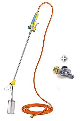 GLORIA Thermoflamm BIO Professional PLUS SET - Gas Abflammgerät | Leistungsstark & langlebig | für große Flächen | Druckgasflaschen-Anschluss | Unkrautbrenner für den unkrautfreien Garten und Gehweg