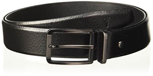 Van Heusen Men's Leather Belt (VHBLERGFF000041_Black_Large)