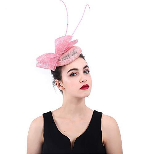 Jklj Pince à Cheveux Coiffe De Plumes Dames Chapeau de thé Chapeau Plume Hairband Mariage Cocktail Fleur Épingle Rétro