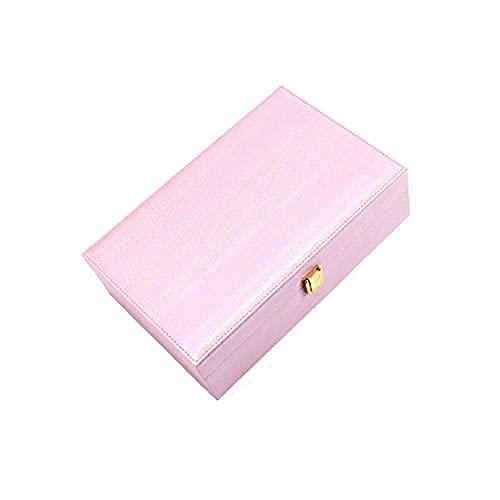 AMAFS Joyero Caja de Almacenamiento de Joyas Pendientes de Mujer Collar de Anillo Caja de Almacenamiento de Madera de Gran Capacidad 29,6 * 19,8 * 9Cm Beautiful Home