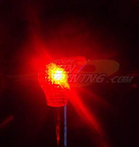 Pommeau de levier de vitesse avec neon - Rouge - NA71 - 12V - 666-CaL ADNAuto