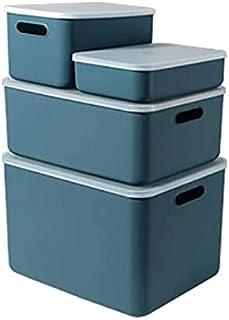 Lpiotyucwh Paniers et Boîtes De Rangement, Boîte de Rangement, boîtes de Rangement décoratif pour étagères, boîte de panie...