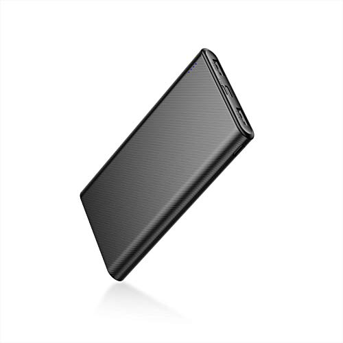 IEsafy Portable Charger, 10000mAh Ultra-Compact Power Bank with Dual Output Ports, Micro & Type C USB inputs, Compatible with iPhone 12/11 /11 pro/11 max/Xs/XR/XS Max/X, Galaxy S9/Note 9 and More