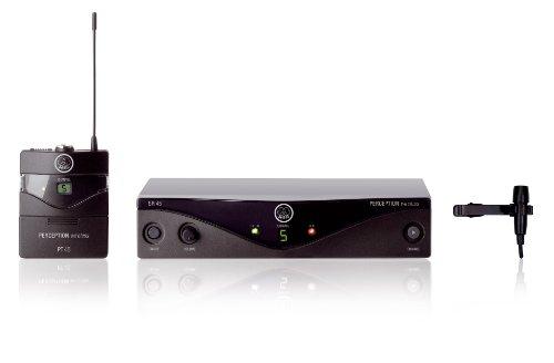 AKG WMS45 Perception Wireless Presenter Channel 38 Tie Clip Microphone S