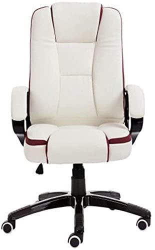 N&O Renovation House Bseack Computerstuhl Liegender Racing Bürostuhl Höhenverstellbarer ergonomischer Gaming-Stuhl mit hoher Rückenlehne PU-Leder-Gewebe Drehbarer Chefsessel für Internet-Café-Studie