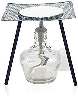 Sourcemall - Juego de lámparas de alcohol y kit de soporte con lámpara de alcohol, trípode, almohadilla