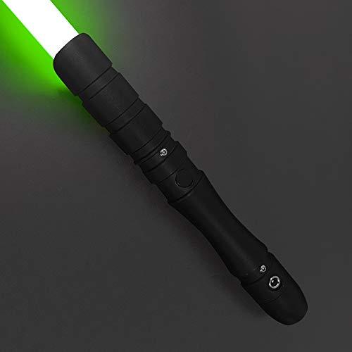 YDD Jedi Sith LED Light Saber, Force FX Heavy Dueling, Rechargeable Lightsaber, Loud Sound High Light with FOC, Metal Hilt, Blaster, (Green)