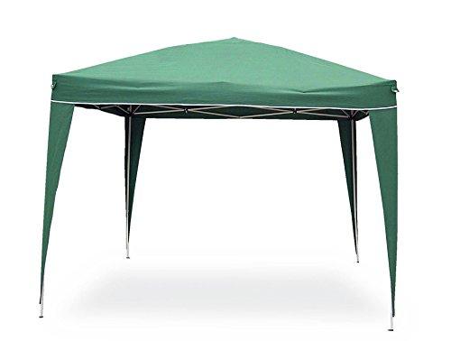 Gazebo pop up da 3x3 mt Colore verde struttura in acciaio. Copertura in poliestere 160gr/m² Completo di borsa per trasporto.