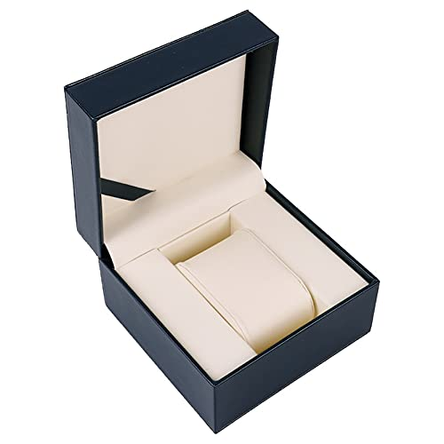 Caja de Relojes para Organizadora y Exhibición, Elegante PU Pantalla de pantalla de cuero único Relojero Pantalla de pantalla Portátil Reloj de pulsera Pulsera Joyería Almacenamiento Organizador Peque