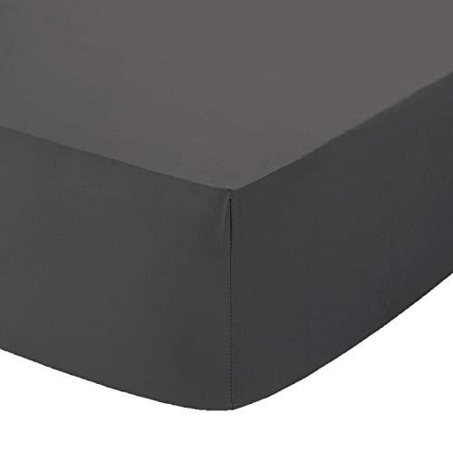 Sábana bajera ajustable AmigoZone (122), de algodón y poliéster, para cama doble pequeña, algodón, gris oscuro, 4Ft Fitted Sheet